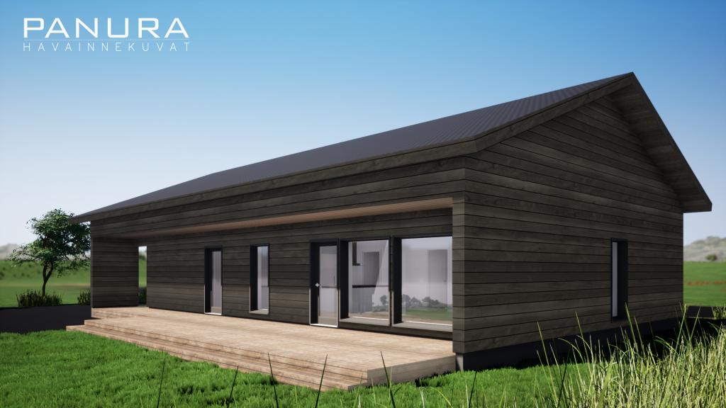 tumma lato talo malli arkkitehti suunnittelu